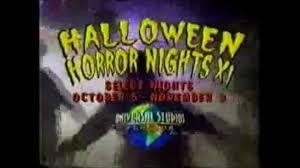 halloween horror nights xi 2001 tv commercial universal