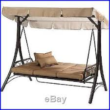 porch swing with canopy cover convertible hammock patio outdoor 3