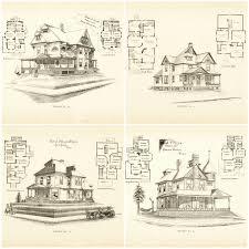 victorian house blueprints victorian houses floorplans print for wall art craft diy ideas