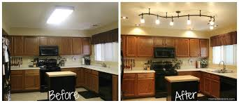 replace fluorescent light fixture with track lighting mini kitchen remodel new lighting makes a world of difference