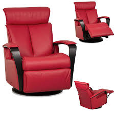 Ergonomic Recliner Chair Furniture Red Modern Leather Recliner With Swivel Recliner Chairs