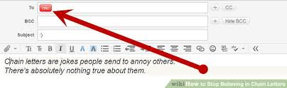 how to stop believing in chain letters 10 steps with pictures