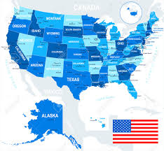 Images Of The Usa Map by Usa Map And Flag Highly Detailed Vector Illustration Image