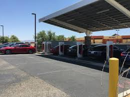 us thanksgiving weekend updated tesla supercharger connecting la to vegas vandalized