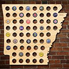 gifts for razorback fans arkansas beer cap map unique beer gifts for men cool beer