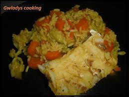comment cuisiner le colin colin au riz et ses légumes cookéo gwladys cooking
