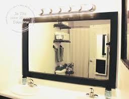 bathroom new how to frame bathroom mirror wonderful decoration