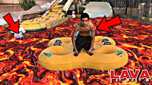 How To Do Challenge With Water Do Not Play The Floor Is Lava Challenge At Water Park Warning