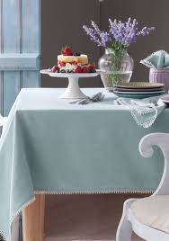 Oblong Table Cloth Lenox French Perle Ice Blue Table Linens Belk