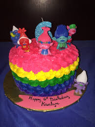 trolls birthday cake party animal pinterest