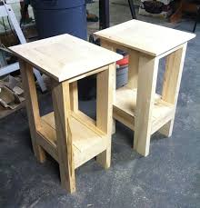 How To Build An End Table Pallet Wood Table Top Bright Reclaimed Wood Kitchen Table Toronto