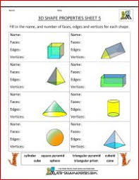 nets of 3d shapes worksheets match the nets sheet 2