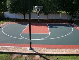 Half Court Basketball Dimensions For A Backyard by Green On Rust Half Court Basketball Courts Pinterest