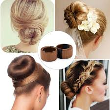 donut bun hair magic diy women hair bun maker styling twist donut bun