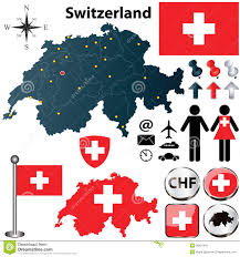 Map Rose Map Of Switzerland With Regions Stock Vector Image 30401047