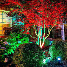 led landscape tree lights rgb led landscape lighting idno club
