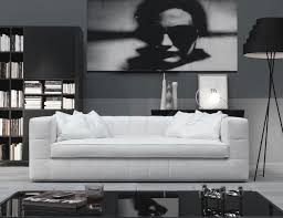 nella vetrina quad qua04 italian designer white leather sofa