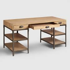 Writing Desk Accessories by Wood And Metal Teagan Desk World Market