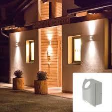 outdoor double wall light outdoor wall sconce up down lighting home design regarding lights