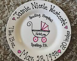 painted wedding plates personalized painted plate etsy
