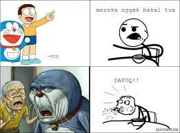 Meme Komik Indonesia - doraemon dan nobita gak bakalan tua jancok gambar meme lucu meme