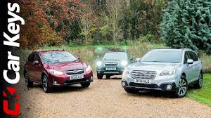 we take the subaru xv subaru outback and subaru forester off road