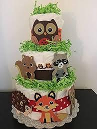 amazon com woodland theme diaper cake woodland critters diaper