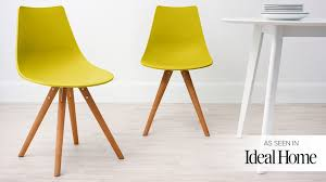 Yellow Dining Chair Moulded Dining Chair Plastic Dining Chair Wooden Base