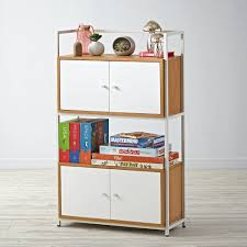 Modern Modular Bookcase Modern Modular Frame And 2 Cubes With Doors Doors Modern And