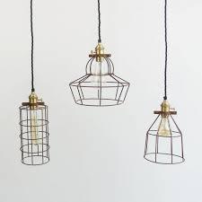 wire cage pendant light pendant lights industrial wire cage pendant lightthe den now