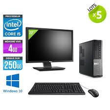 pc bureau professionnel lot de 5 pc occasion dell 790 desktop ecrans 22 i5 4go
