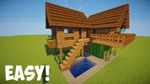 membuat rumah di minecraft minecraft tutorial cara membuat rumah survival 7 youtube