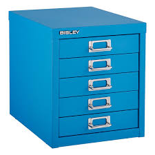 bisley cerulean blue 5 drawer cabinet the container store