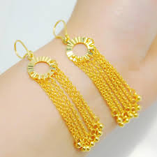 gold plated earrings 3 package tact gold plated earrings imitation jewelry