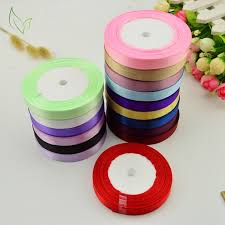 silk satin ribbon 10mm 25 yards silk satin ribbons wholesale wedding decorative