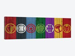 comics symbols on wood p marvel comics