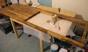 protection plan de travail bois cuisine plan de travail en bois sur mesure cleanemailsfor me