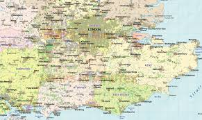 Counties Of England Map by South England Map London Map