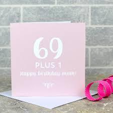 70th birthday card