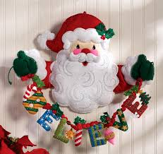 believe in santa bucilla felt wall hanging kit 86189