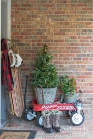 Ideas For Decorating Simple Christmas Front Porch Decorating Ideas Postcards From The