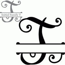 monogram letter t silhouette design store search designs split monogram t
