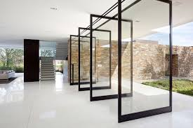 minimalist elegant design glass house floor plans that has white
