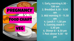 pregnancy food chart india indian pregnancy diet chart
