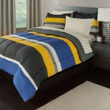 Sports Themed Comforters Amazon Com 5 Piece Boys Twin Xl Rugby Stripes Bed In A Bag