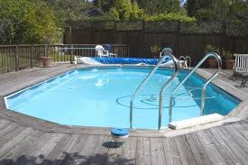 majestic swimming pools decks above ground with stainless steel