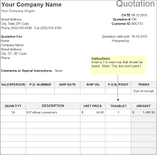 quotation template price quotation templates resumess franklinfire co
