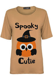 Womens Halloween T Shirts by Womens Halloween T Shirt Spooky Cutie Ladies Baggy Short Sleeve