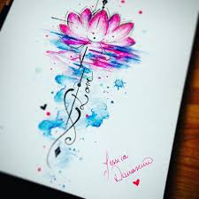 watercolor lotus tattoo 1000 images about tattoos on pinterest om symbol watercolor