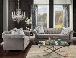 tufted gray sofa sofa gray tufted chesterfield sofa gray velvet sofa for sale